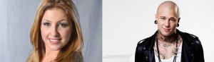 Linus Svenning & Helena Paparizou - foto: SVT