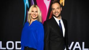 Sanna Nielsen og Robin Paulsson - foto: SVT